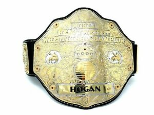 2 tone WCW Big Gold Hulk Hogan Signed