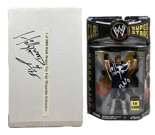 """Perfect Condition"" Classic superstars Nwo Hulk Hogan figure Signed"