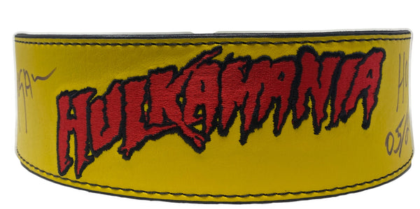 Yellow Hulkamania Signed weight belt