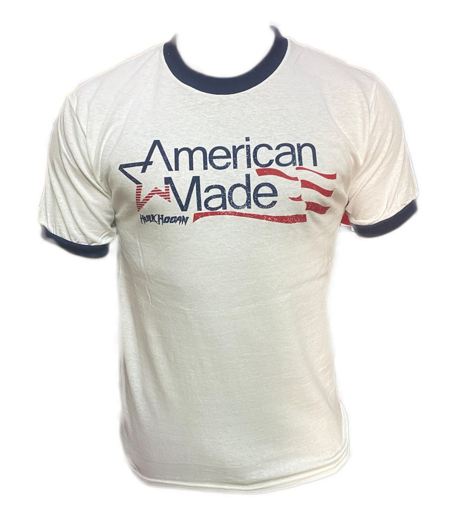 American made blue outline shirt