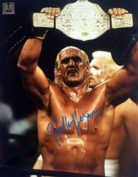 Hulk Hogan Signed Heavyweight Championship Poster