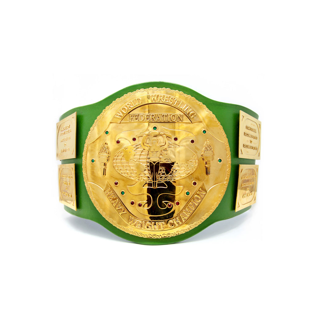 Hulk Hogan Signed WWF Big Green Championship Belt