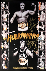 Hulk Hogan Signed Gold Collection Poster