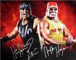 Hulk Hogan Signed Hollywood Hogan Face Off Poster