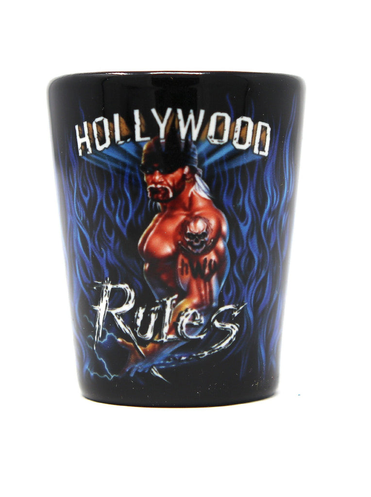 Hollywood Blue Flame 2oz Shot Glass