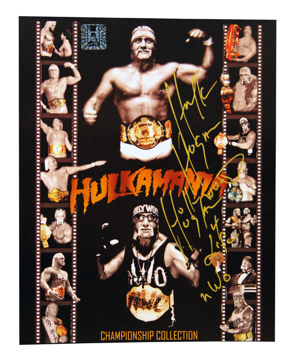 Hulk Hogan Signed Gold Collection Photo