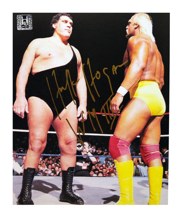 Hulk Hogan Signed Wrestlemania III Photo
