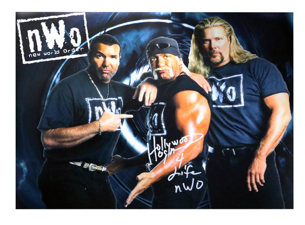 Hulk Hogan Signed NWO Group Poster