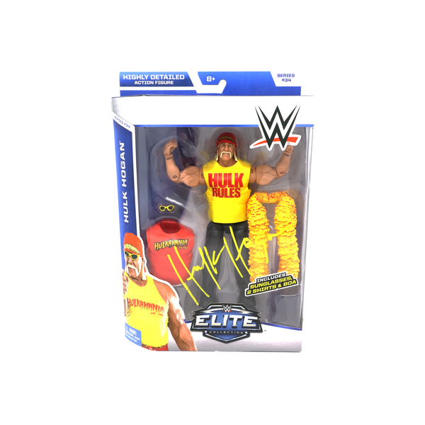 Hulk Hogan signed WWE Elite Action Figure
