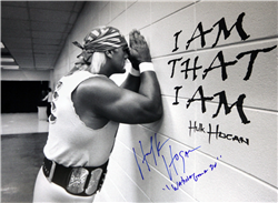 Hulk Hogan Signed Pray Poster