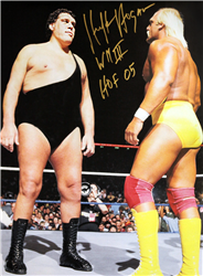 Hulk Hogan Signed Hogan vs Andre Poster