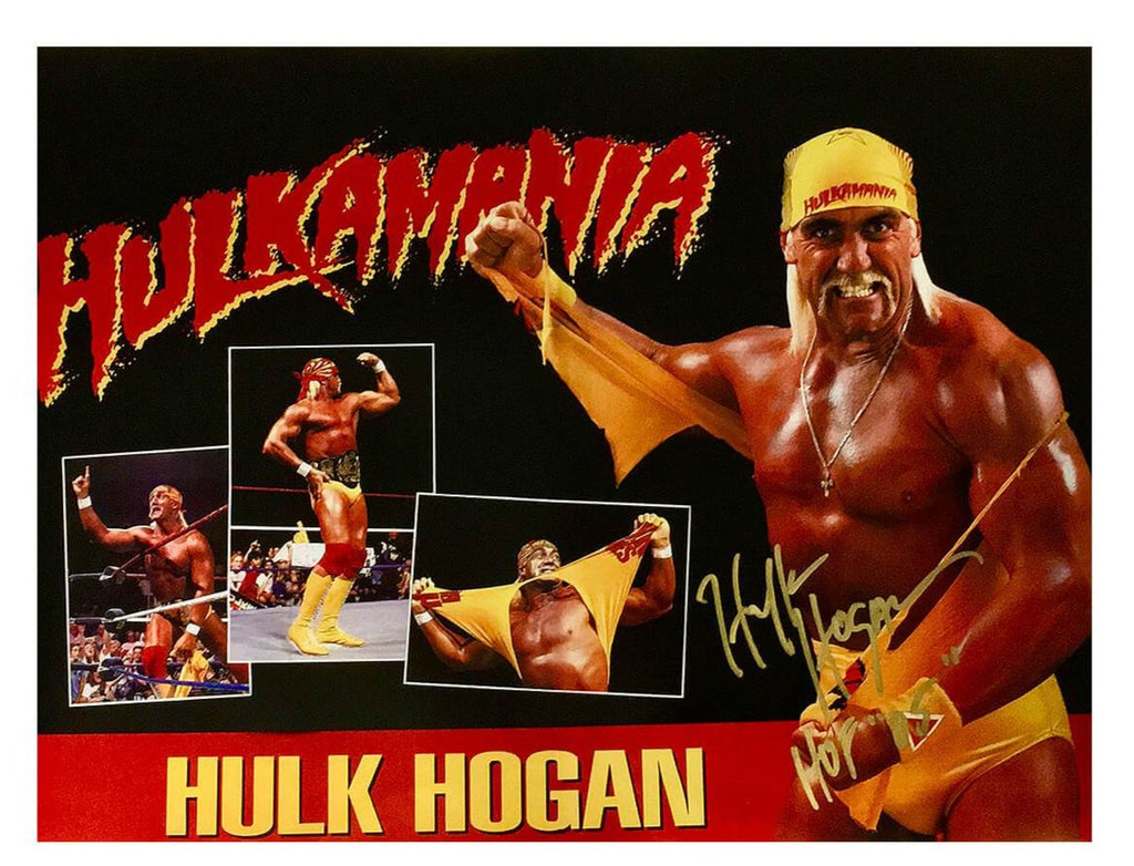 Hulk Hogan Signed Hulkamania Collage Poster