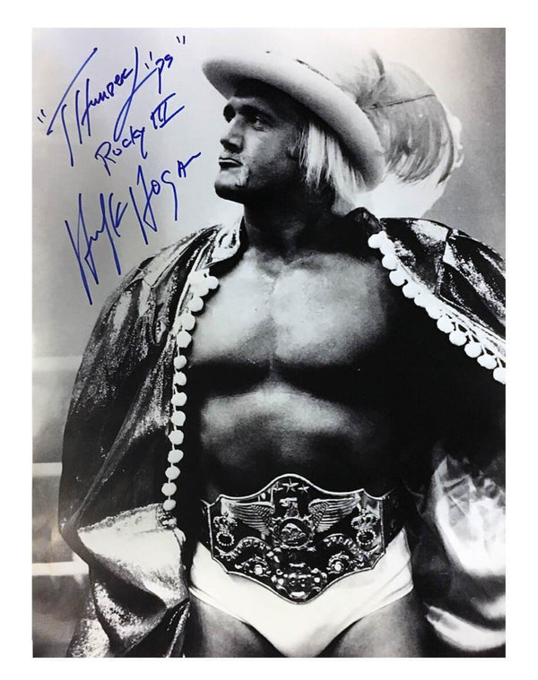Hulk Hogan Signed Thunderlips Black and White Poster