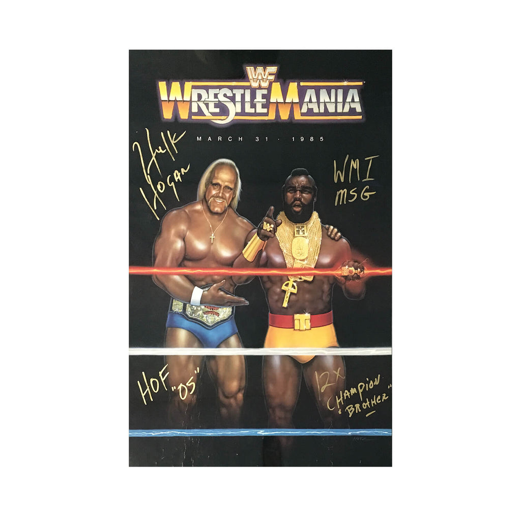 Hulk Hogan Signed Wrestlemania 1 Original Poster