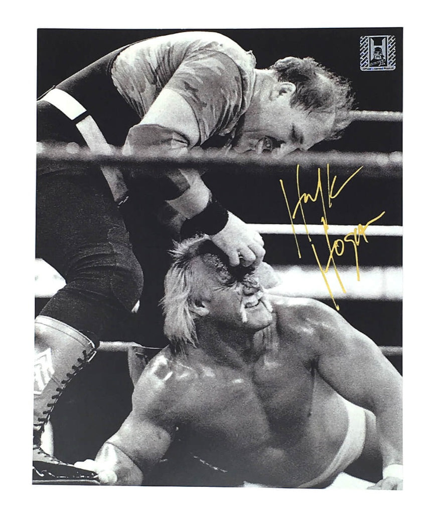 Hulk Hogan Signed Sgt. Slaughter and Hogan 8x10