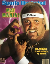 Hulk Hogan Signed Sports Illustrated Poster
