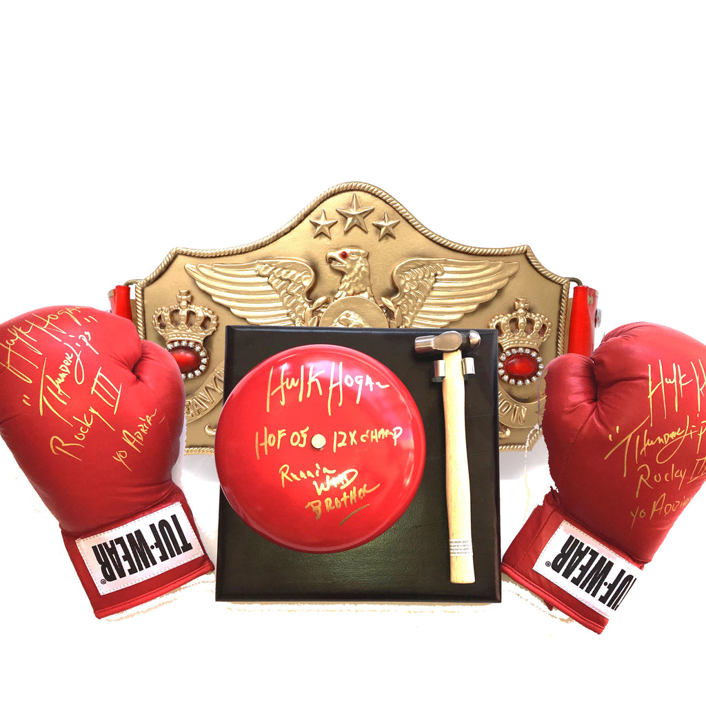 Hulk Hogan Signed Thunderlips Ring Bundle