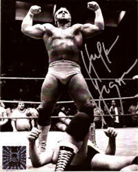 Hulk Hogan Signed Nick Bockwinkel Defeat Photo
