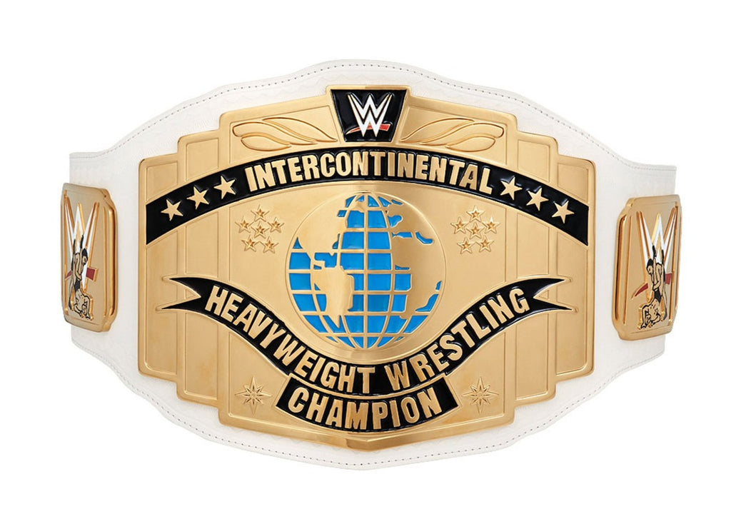 White WWE Intercontinental Championship Commemorative Title Belt Front