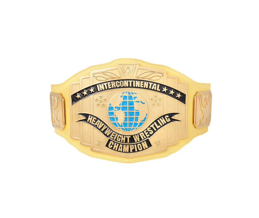 Yellow Replica Intercontinental WWE Championship Title Belt Front