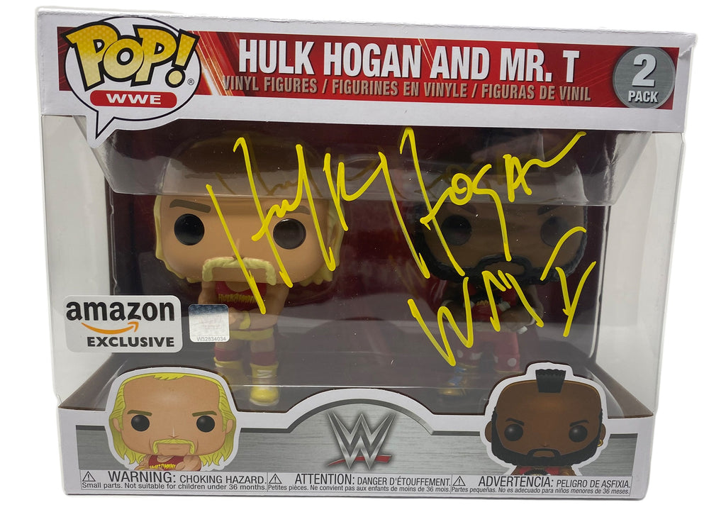 - Hulk Hogan & Mr. T, Hulkamania 2 Pack, Yellow Amazon Exclusive (51720) Signed Funko Pop! WWE