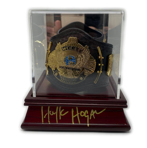 Winged eagle mini belt signed w/ Display case