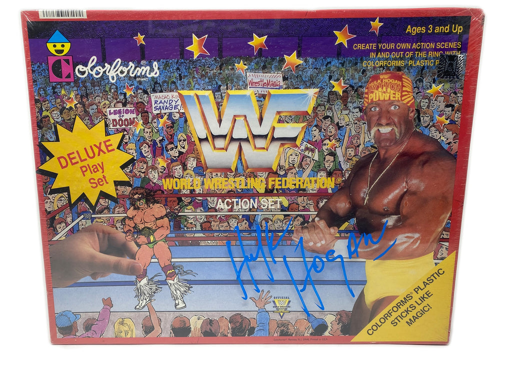 "Signed Deluxe Hulk Hogan play set come with ""CoA"