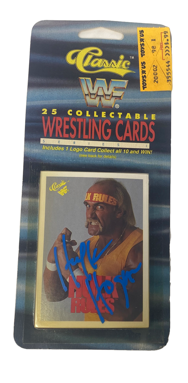 Autographed WWF collector cars