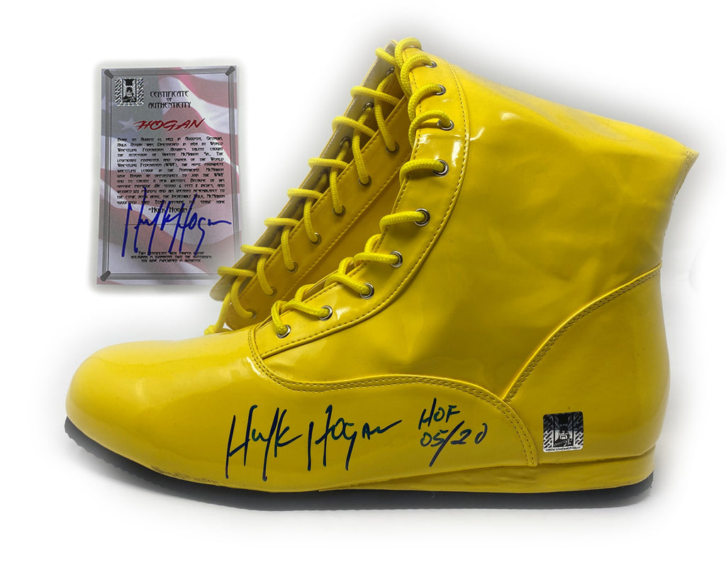 Signed wrestling boot W/ signed Coa