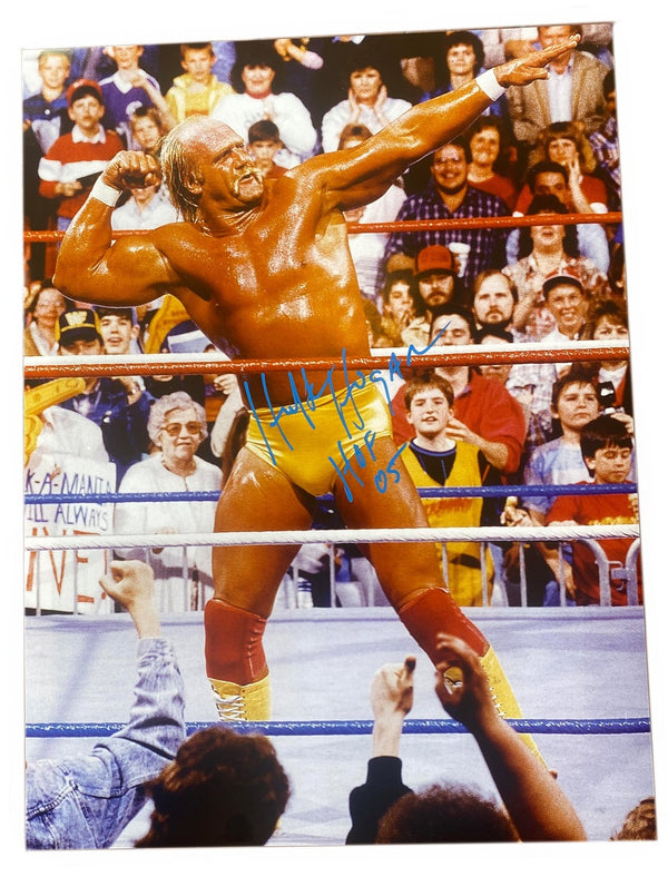 Hulk Hogan Signed Bow & Arrow Poster