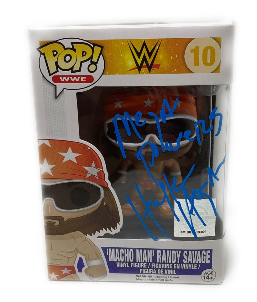 Macho man Hulk Hogan Signed Funko pop!