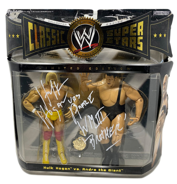 Classic superstars Hulk Hogan & Andre the giant signed figure