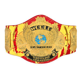 "Hulk Hogan ""Hulkamania"" Signature Series Championship Replica Title Signed!"