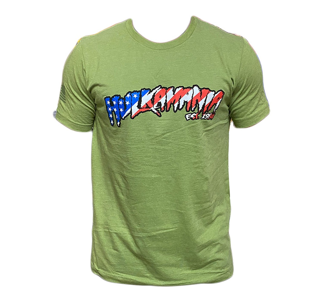 Green Hulkamania T-shirt