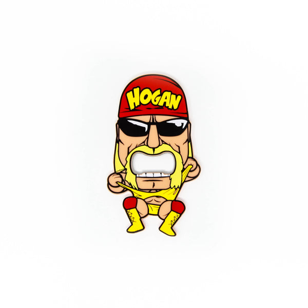 Little Hulk Hogan Bottle Opener Magnet front