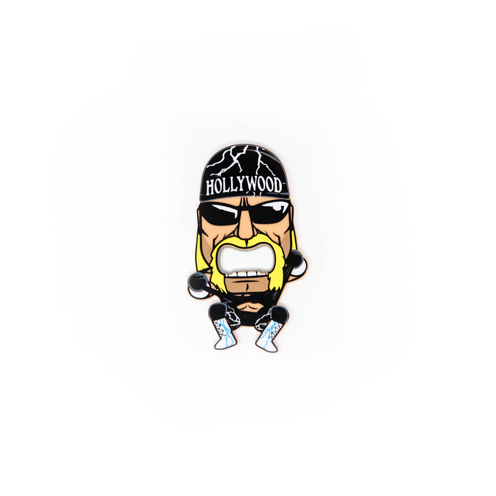 Little Hollywood Hogan Bottle Opener Magnet front