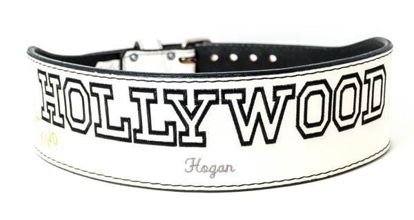 White Hulk Hogan Signed Hollywood Hogan Weight Belt