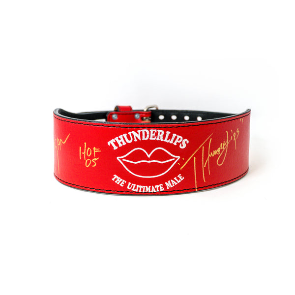 Thunderlips Autographed Weight Belt front