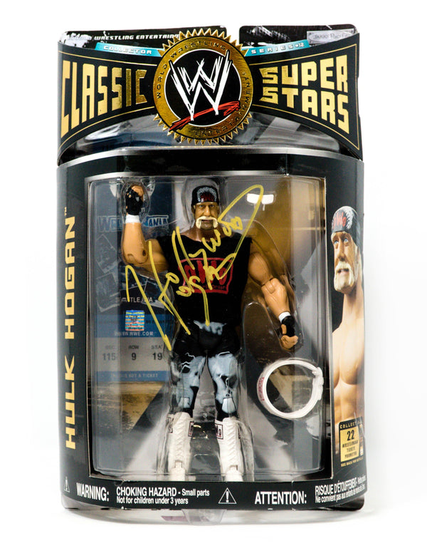 Hulk Hogan Signed WWE Hollywood Hogan Classic Superstars Action Figure