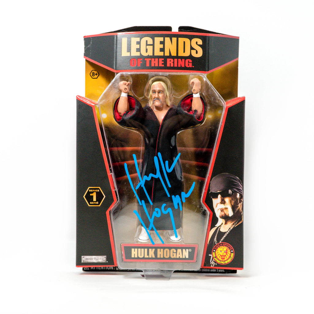 Hulk Hogan Signed Legends of the Ring Action Figure