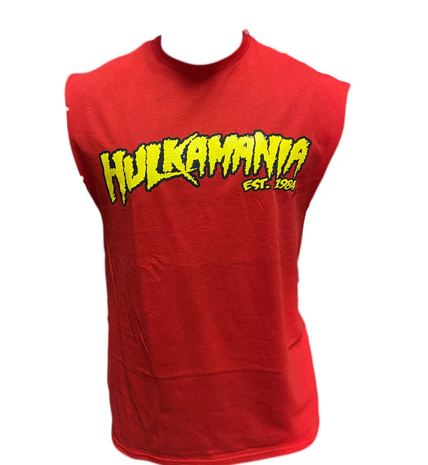 Sleeveless Cutoff Hulkamania Shirt