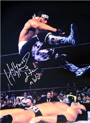 Hulk Hogan Signed Hollywood Hogan Leg Drop Poster