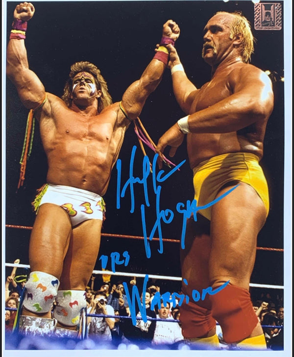 Hulk hogan & ultimate Warrior Signed 8x10