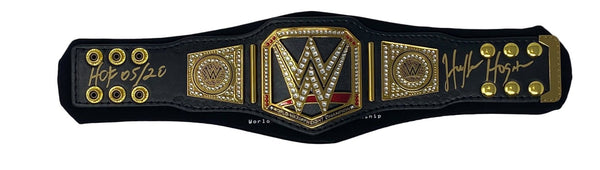 WWE Championship (2014) Mini Replica Title Belt signed