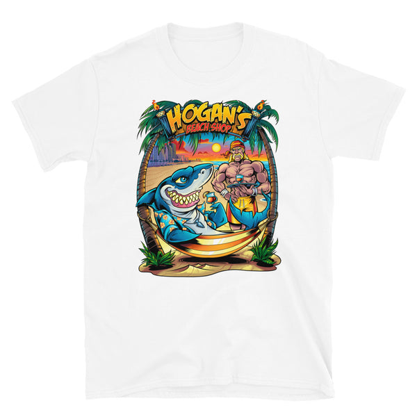 Hogans Beach Shop Shark Hammock Short-Sleeve Unisex T-Shirt