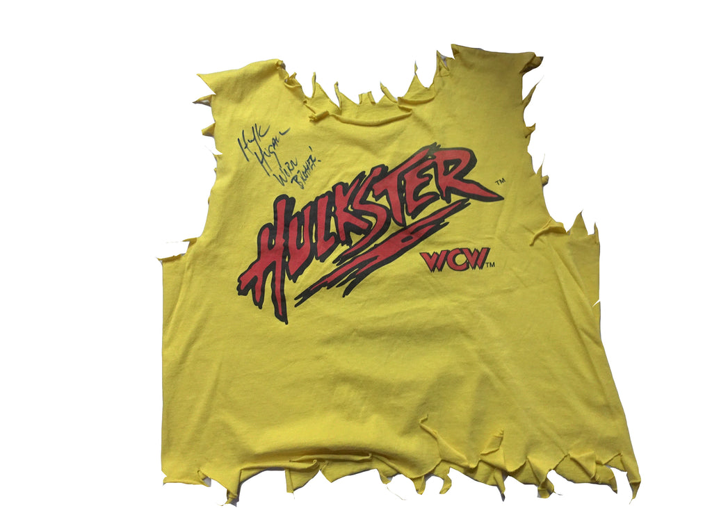 WCW Hulk Hogan Ringworn Ring Worn Hulkster T-shirt