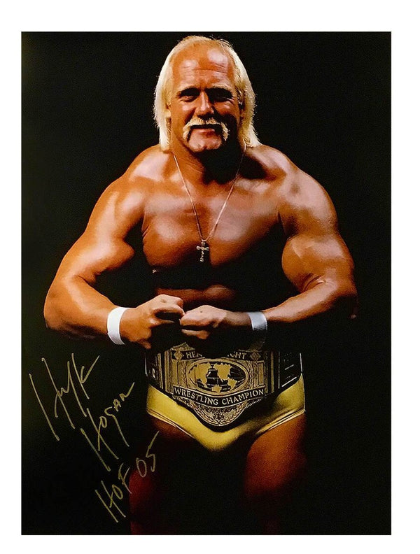 Hulk Hogan Signed Crab Pose Poster