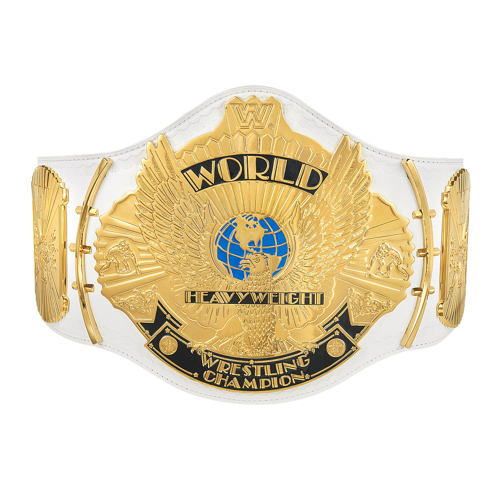 Hulk Hogan Signed WWE White Winged Eagle Replica Belt