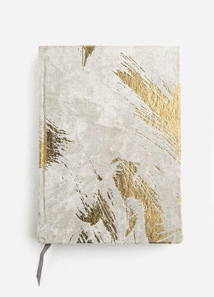 Abstract Brush Velvet Journal