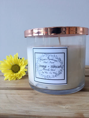 Nectar Apothecary Orange Hibiscus Candle